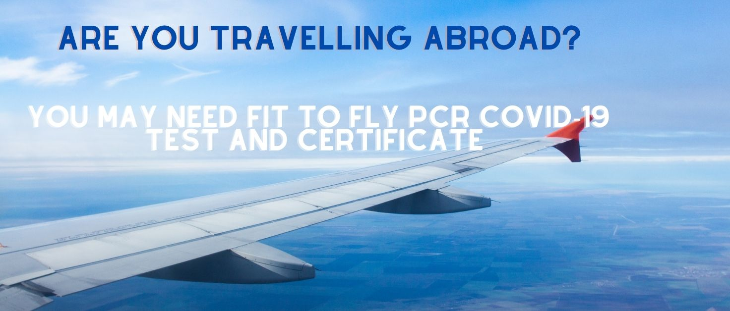 Fit to fly PCR Covid-19 test and certificate in Bedford