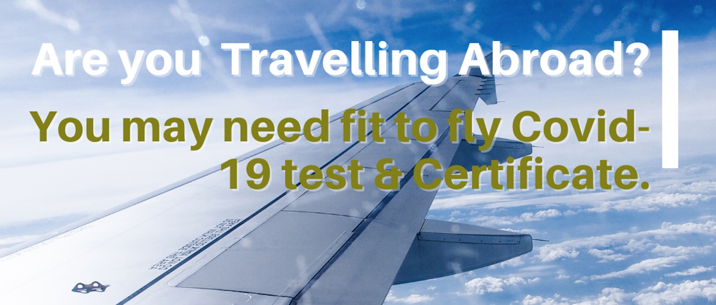 PCR FIT TO FLY COVID-19 TEST AND CERTIFICATE